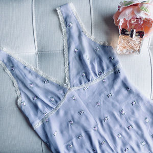 Victoria's Secret Lavender Floral Mini Slip